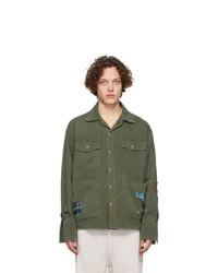 Camicia giacca verde oliva di Greg Lauren