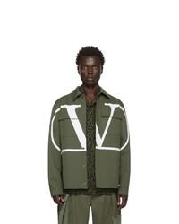 Camicia giacca verde oliva di Valentino