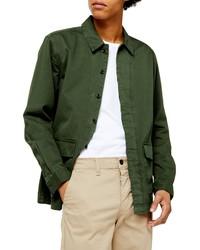 Camicia giacca verde scuro