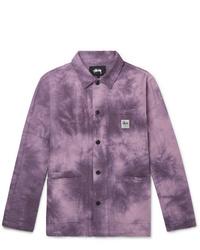 Camicia giacca viola melanzana