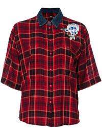 Camicia scozzese bordeaux di Diesel