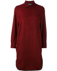 Camicia scozzese bordeaux di Dsquared2