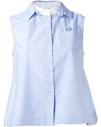 Camicia senza maniche azzurra di No.21