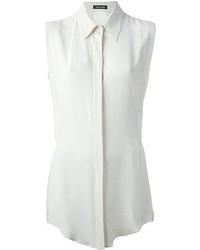 Camicia senza maniche bianca
