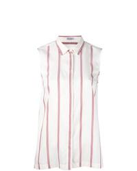 Camicia senza maniche bianca di Brunello Cucinelli