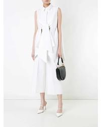Camicia senza maniche bianca di DELPOZO