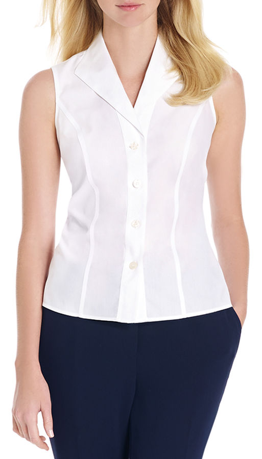 Camicia senza maniche bianca di Jones New York