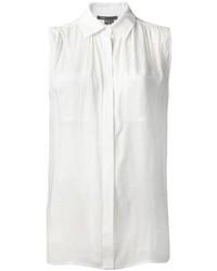 Camicia senza maniche bianca di Vince
