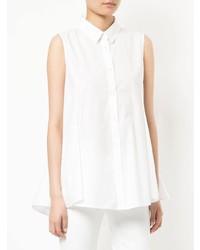 Camicia senza maniche bianca di White Story