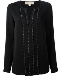 Camisetta a maniche lunghe decorata nera di MICHAEL Michael Kors