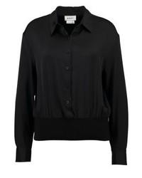 Camisetta a maniche lunghe nera di DKNY