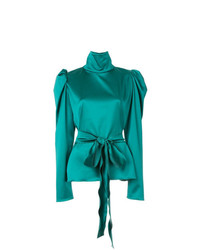 Camisetta a maniche lunghe verde di Tatuna Nikolaishvili