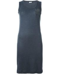 Canotta di seta grigio scuro di Brunello Cucinelli