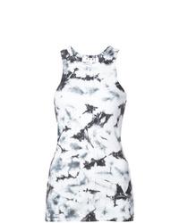 Canotta effetto tie-dye nera e bianca di Proenza Schouler