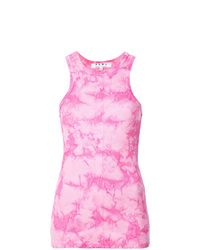Canotta effetto tie-dye rosa di Proenza Schouler