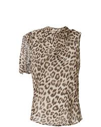 Canotta leopardata marrone chiaro di Twin-Set