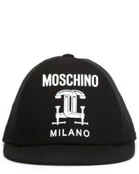 Cappellino con visiera nero di Moschino