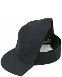 Cappellino con visiera nero di Yohji Yamamoto
