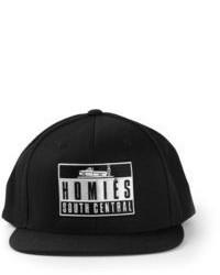Cappellino con visiera stampato nero e bianco
