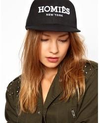 Cappellino con visiera stampato nero e bianco di Reason