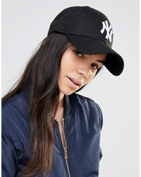Cappellino con visiera stampato nero di New Era