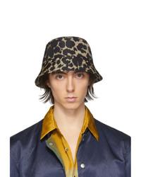 Cappello alla pescatora leopardato nero di Dries Van Noten