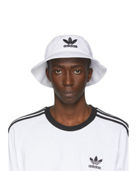 Cappello alla pescatora stampato bianco e nero di adidas Originals
