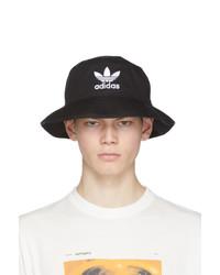 Cappello alla pescatora stampato nero e bianco di adidas Originals