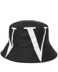 Cappello alla pescatora stampato nero e bianco di Valentino