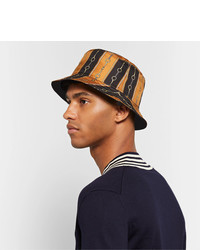 Cappello alla pescatora stampato nero di Gucci