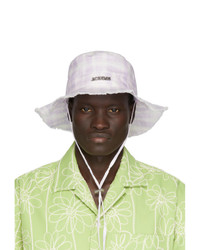 Cappello alla pescatora stampato rosa di Jacquemus