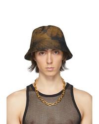 Cappello alla pescatora stampato senape di Dries Van Noten