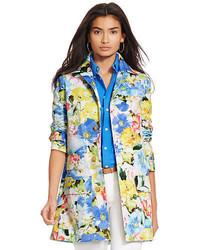 Cappotto a fiori multicolore