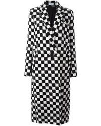 Cappotti a quadri bianchi e neri da donna di Courreges  89bf97bfb40