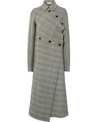 Cappotto a quadri grigio di Jil Sander
