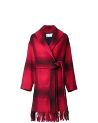 Cappotto a quadri rosso