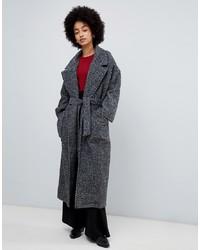 Look alla moda per donna  Cappotto a spina di pesce grigio scuro ... 4b72ffd5afe