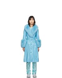 Cappotto con collo di pelliccia acqua di Saks Potts