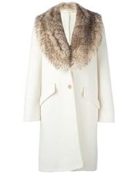1f88cf5d0e635b Cappotti con collo di pelliccia bianchi da donna   Moda donna ...