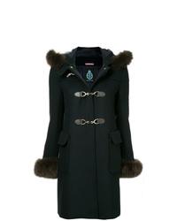 Cappotto con collo di pelliccia blu scuro di GUILD PRIME