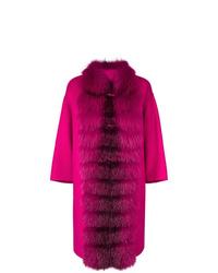 Cappotto con collo di pelliccia fucsia di Ermanno Scervino