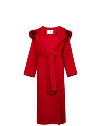 239c1a3b23 Cappotti con collo di pelliccia rossi da donna | Moda donna | Lookastic
