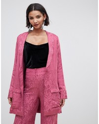 Cappotto con stampa cachemire rosa di For Love And Lemons
