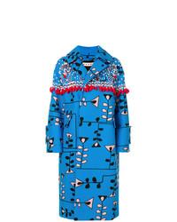 Cappotto decorato blu di Marni