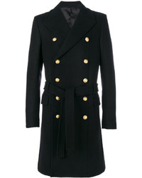 Cappotto decorato nero di Balmain
