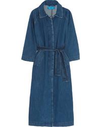 Cappotto di jeans blu scuro