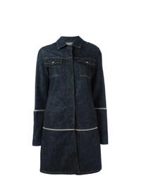 Cappotto di jeans blu scuro di Helmut Lang Vintage