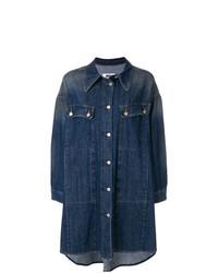 Cappotto di jeans blu scuro di MM6 MAISON MARGIELA