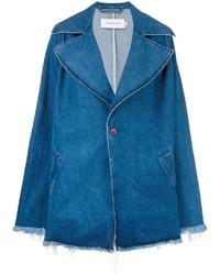 Cappotto di jeans blu di MARQUES ALMEIDA