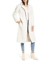 Cappotto di pile bianco